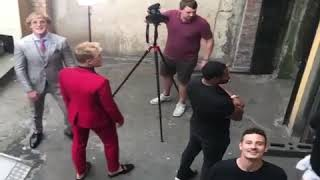 Behind the scenes of Logan Paul39s press conference uk  Funny