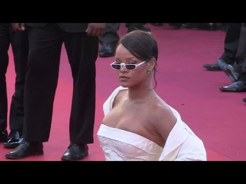 Singer Rihanna rocks the red carpet for the Premiere of Okja in Cannes