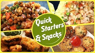 Quick and Healthy Snacks - BEST Starters and Snack Recipes - Easy To Make Recipes in Hindi
