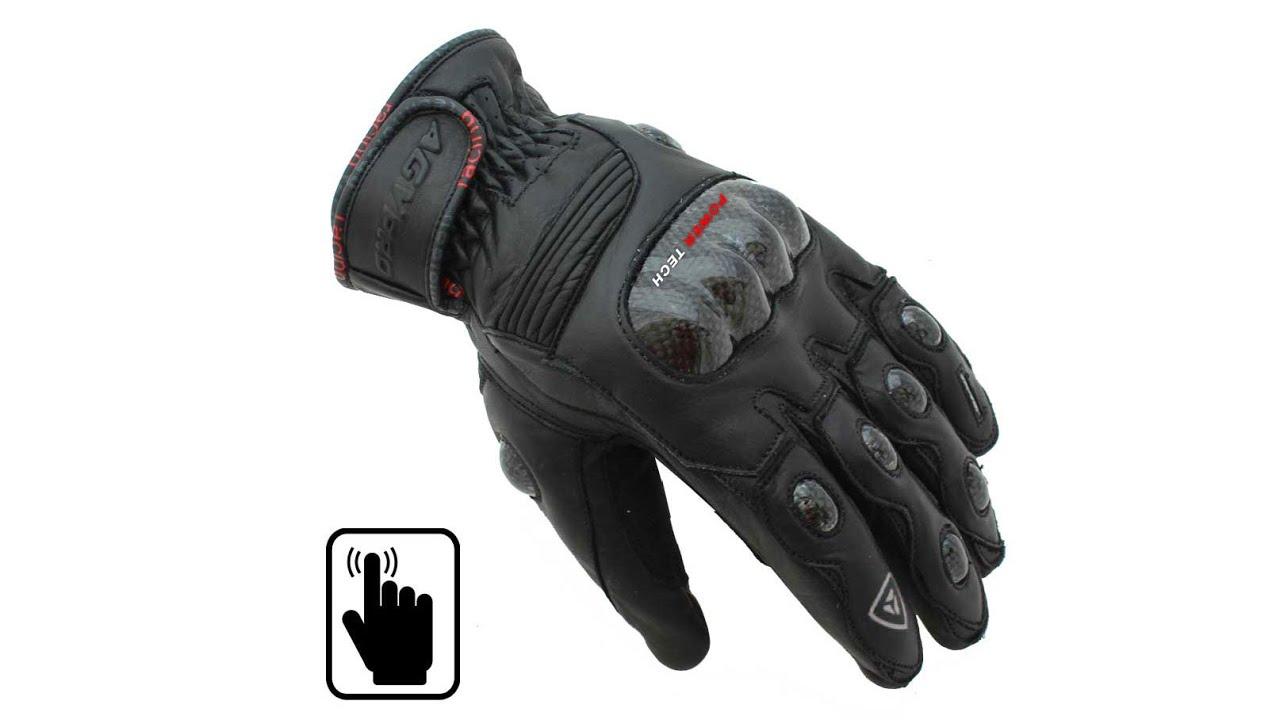 Γάντια μηχανής δερμάτινα AGVpro RX-2 - YouTube e701094adf6