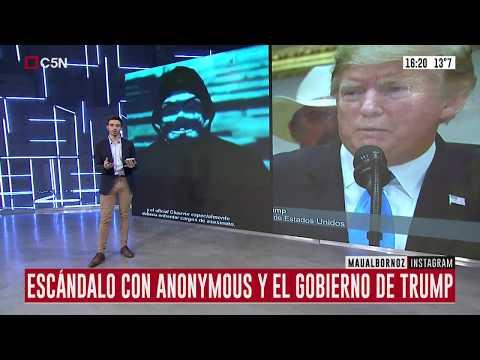 Anonymouys hackeó a la policía y amenazó a Trump