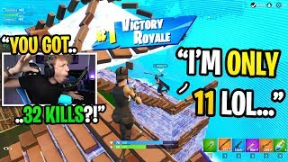 This 11 year old kid got 32 KILLS in his highest kill game in Fortnite... (shocking)