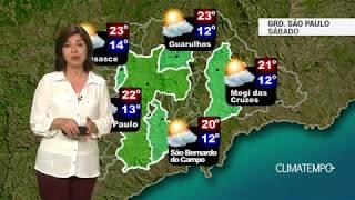 Previsão Grande SP – Sábado de sol forte
