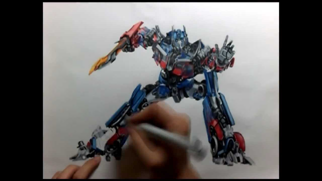 Optimus Prime Drawing By R3nd0s Youtube