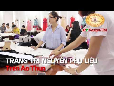 Trang trí nguyên phụ liệu trên áo thun trong khóa học Thiết kế thời trang