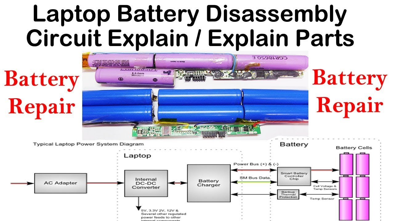 Laptop Battery Disassembly & Circuit Explanation - YouTube | Battery Cell Wiring Diagram |  | YouTube