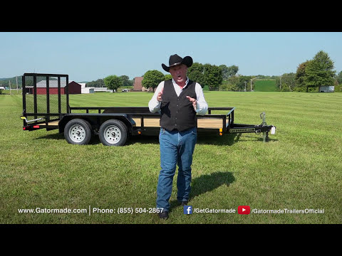 Gatormade 16Ft Dual Axle Utility Trailer