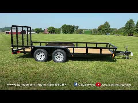 Gatormade 16Ft Dual Axle Utility Trailer