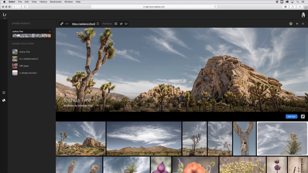 Sharing Web Photo Galleries From Lightroom