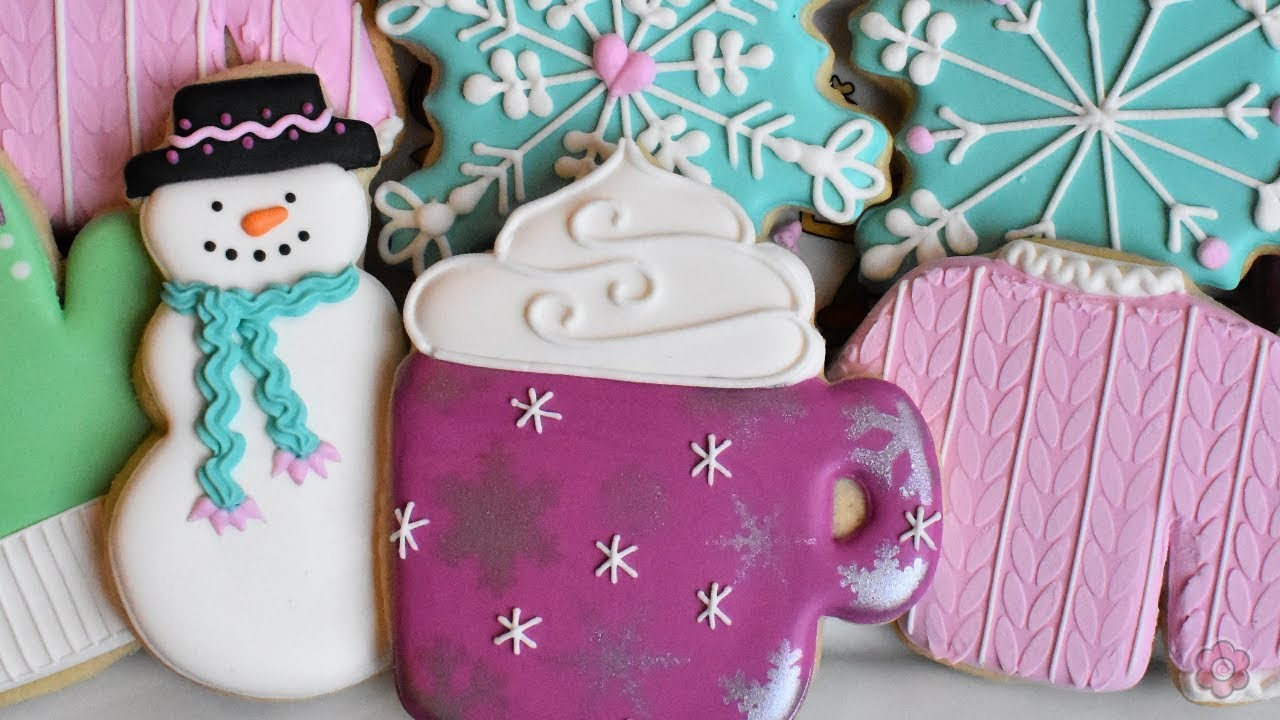 How to Decorate Winter Cookies - FIVE Designs!