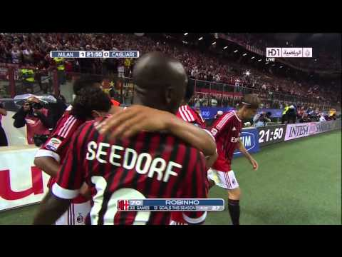 Ac.Milan Vs cagliari Goals And Highlights Robinho Goal 4-1