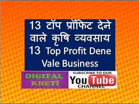 13 अधिक मुनाफे वाले व्यवसाय ,13 most Benefit Giving Agri Business
