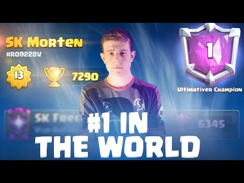 #1 IN THE WORLD!! 7200+ TROPHIES TOP LADDER GAMEPLAY - Clash Royale