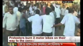 Chennai: Fresh violence at US consulate over anti-Islam film -- NewsX