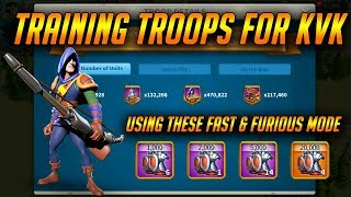 Training Troops For KvK During  Eve of Crusade Stage 2 | Rise of Kingdoms