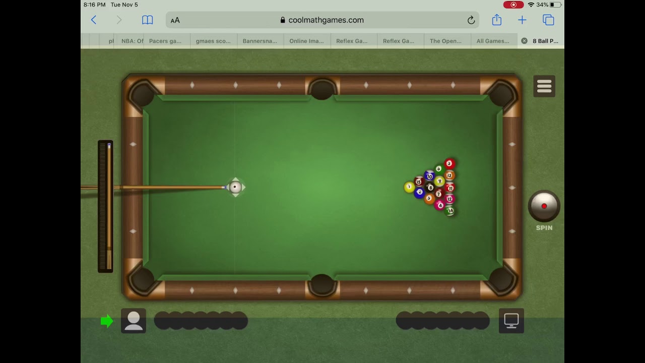 You Won T Believe How I Got This Win In 8 Ball Pool In Cool Math Games Youtube