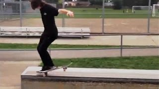 INSTABLAST! Hang Ten Nose Manual God!?!! Backyard Pool Shredding! 24 Rail Bs 5050!!