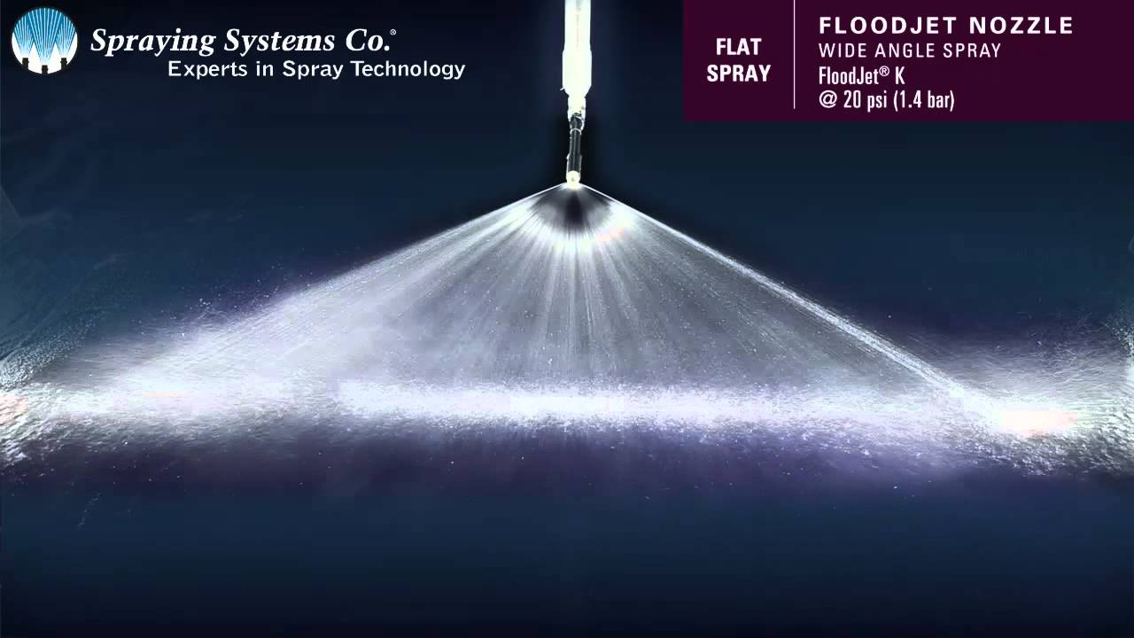 Floodjet 174 K Wide Angle Spray Pattern Demonstration By