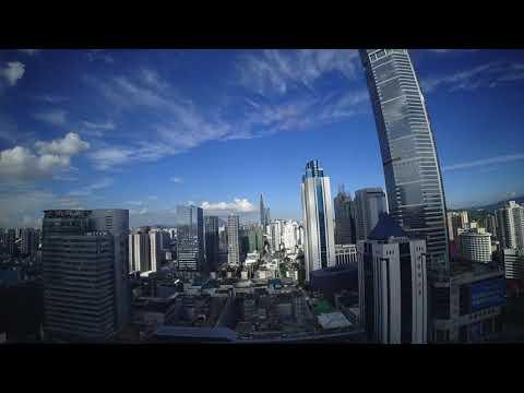 Cloud time lapse in Shenzhen Huaqiangbei