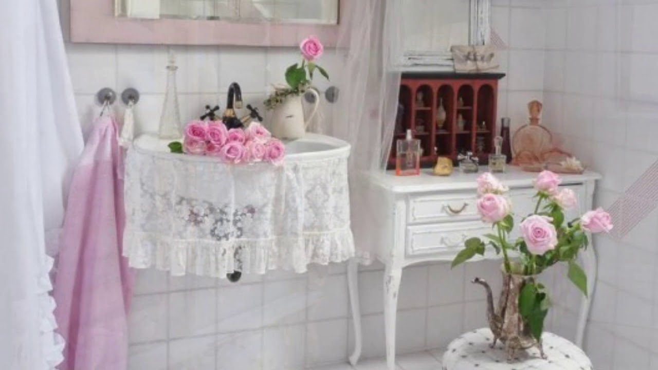 terrific shabby chic bathroom ideas | Lovely And Inspiring Shabby Chic Bathroom Decor Ideas ...