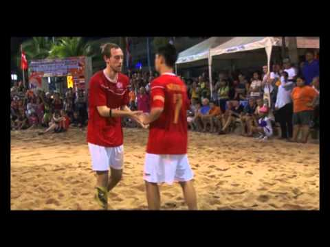 Norway vs Ivory Coast from the final in the Pattaya International Beach Football Tournament 2012
