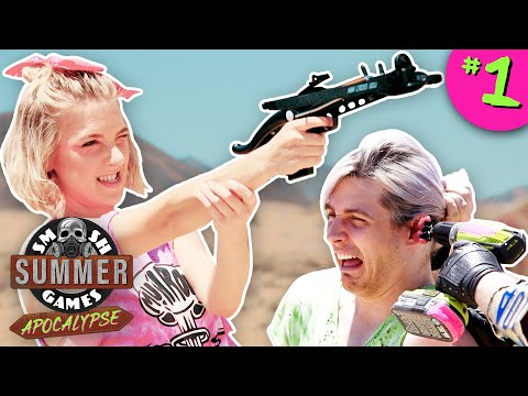 PUNISHMENT ZOMBIE SHOOTOUT | Smosh Summer Games: Apocalypse