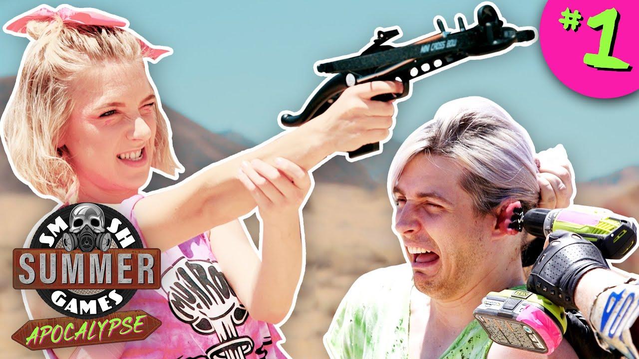 PUNISHMENT ZOMBIE SHOOTOUT | Smosh Summer Games: Apocalypse Ep. 1