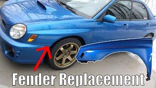 Subaru WRX Fender Removal/Install -2002/2003 Bugeye