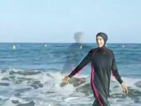 1ac67ae86a5b6 ملابس البحر للمحجبات - YouTube