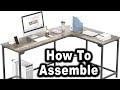 Unboxing & Assembling Hago Modern L-Shaped Desk Corner Computer Gaming Table