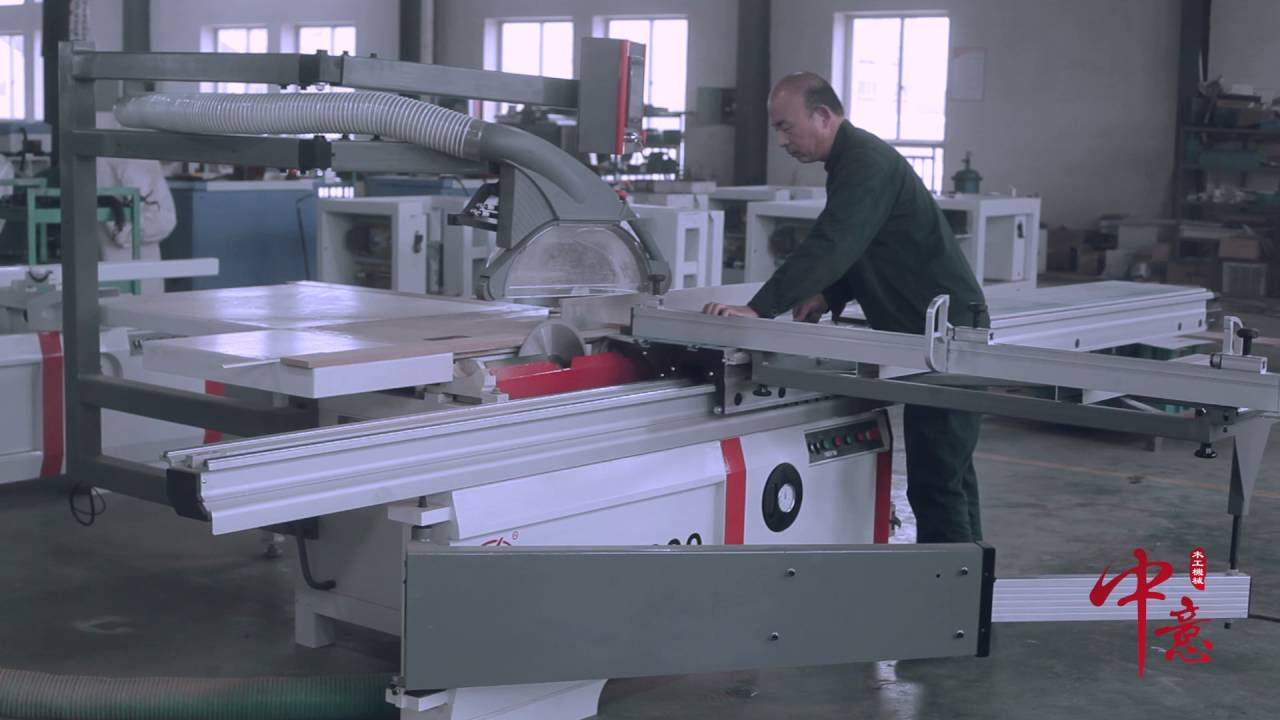 Cnc Woodworking Sliding Table Saw F3200 Youtube