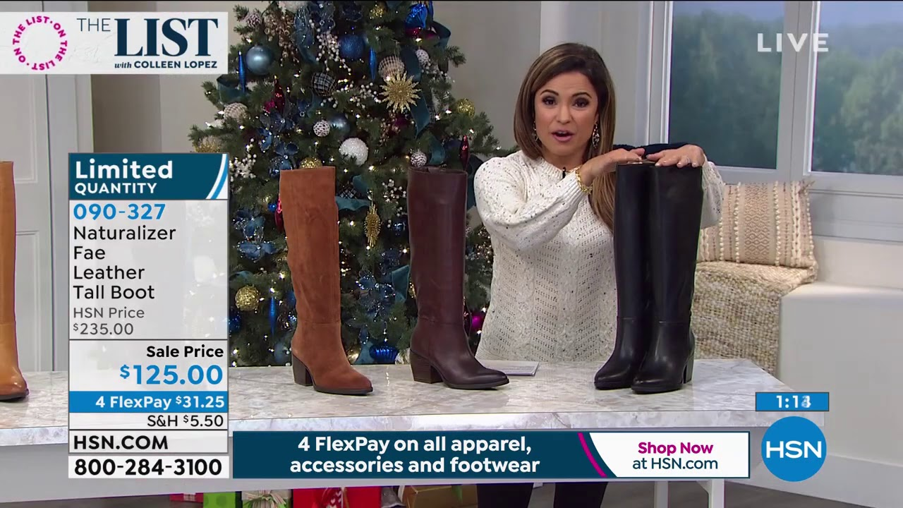 Naturalizer Fae Leather Tall Boot - YouTube