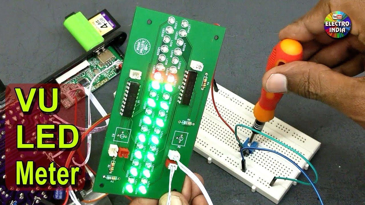 Vu Led Meter With Lm3914n Ic Jlcpcb Pcb Prototype Hindi 16f88 Electronics Forum Circuits Projects And Microcontrollers Electroindia