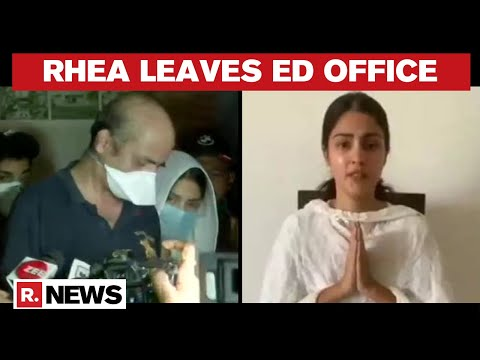 Sushant's Case: Rhea Chakraborty Leaves ED Office after 8.5 Hours Of Questioning