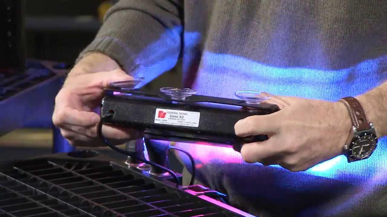 Federal Signal Viper S2 Dual Internal LED Warning Light - YouTube 1c315a074a