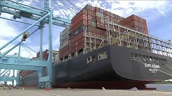 JaxPort welcomes largest container ship to ever visit Jacksonville