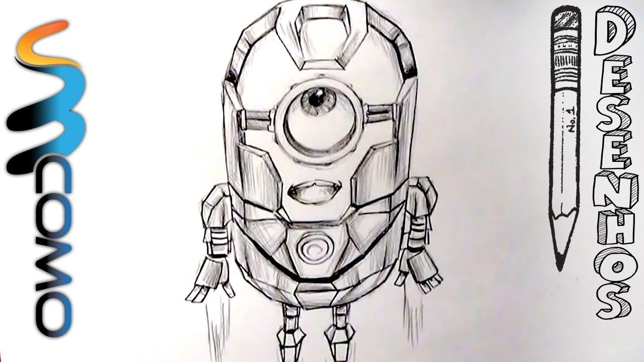 desenhando minion iron man do gru o maldisposto youtube stop sign logo clip art stop sign mascot