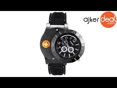 USB rechargeable electronic lighter watch in Bangladesh