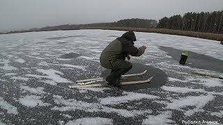 Рыбалка первый лёд 2019 2020 ЭКСТРЕМАЛЬНАЯ  зимняя рыбалка