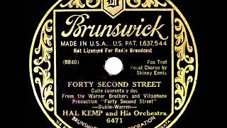 1933 HITS ARCHIVE: Forty-Second Street - Hal Kemp (Skinny Ennis, vocal)