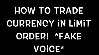 Roblox How to trade currency in limit order 2015