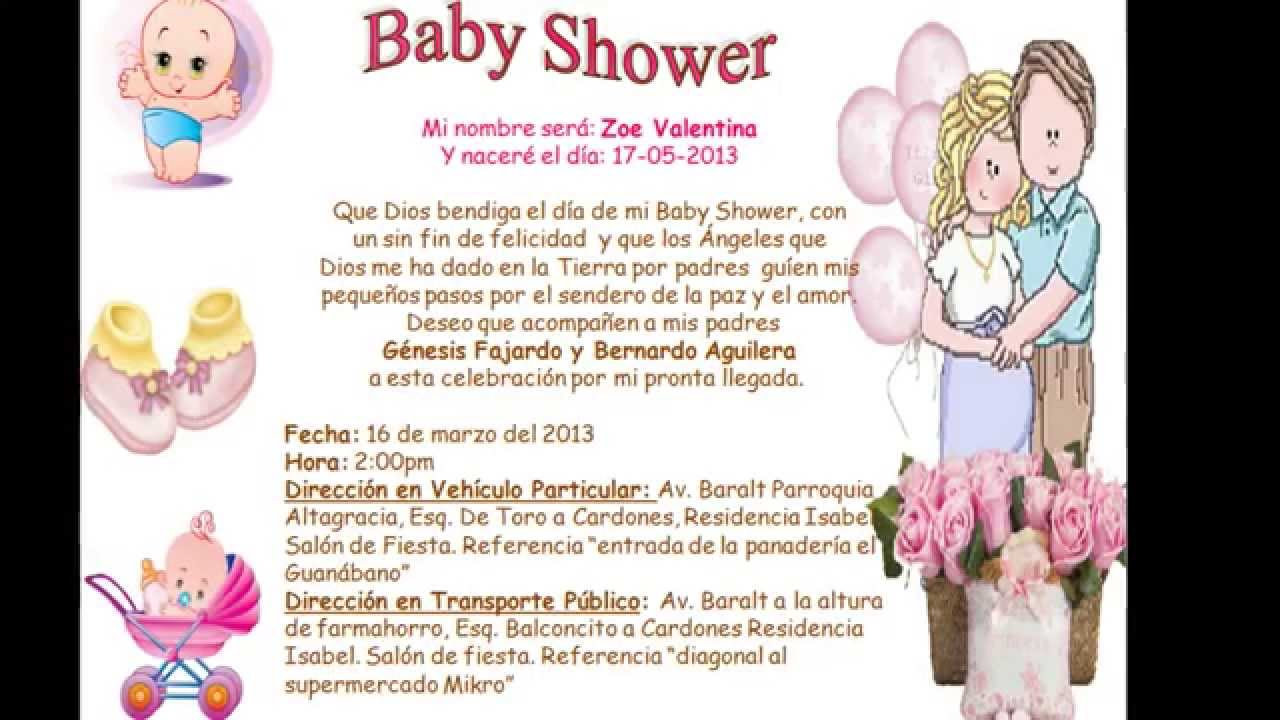 tarjeta de invitaci n baby shower youtube