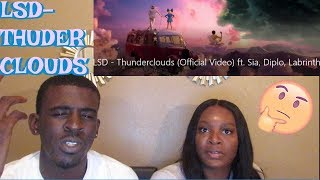 LSD - Thunderclouds ft. Sia, Diplo, Labrinth (Official Video) REACTION Video