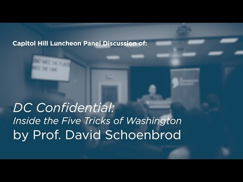 Panel Discussion of DC Confidential with Prof. David Schoenbrod