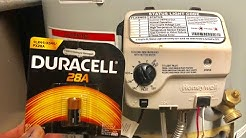 Does my water heater use batteries?
