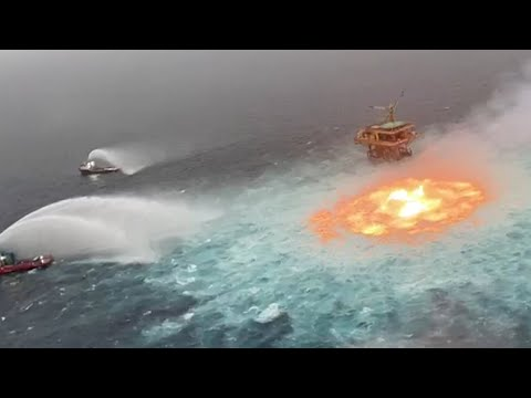 Pipeline leak causes 'eye of fire' in the Gulf of Mexico