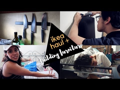 IKEA HAUL & FURNITURE BUILDING | Moving Vlog 2018