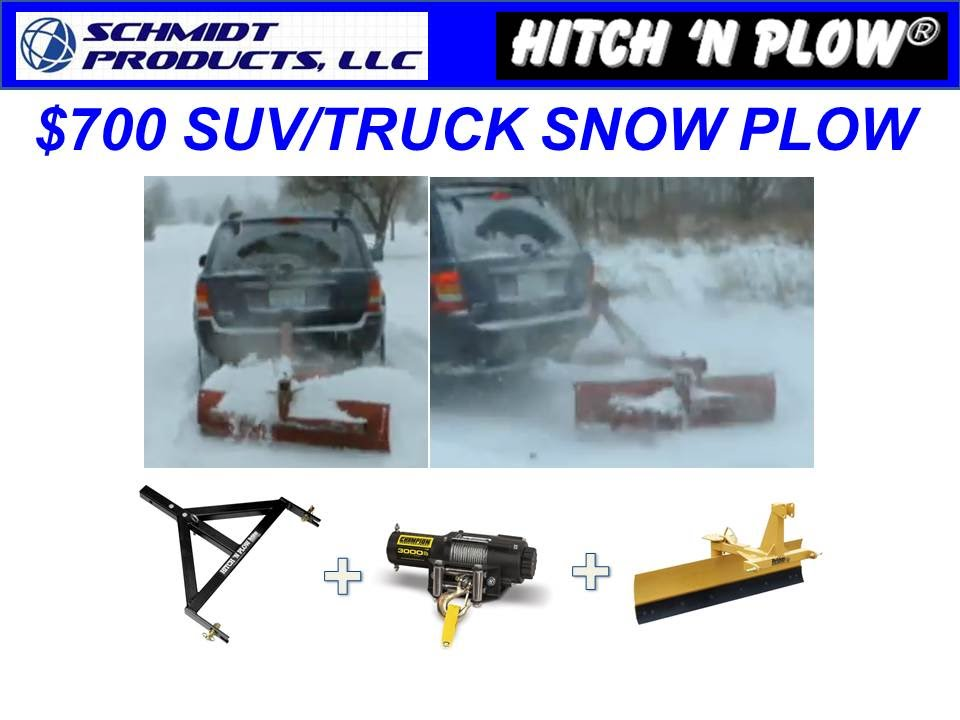 Trailer Hitch Receiver >> Hitch 'N Plow™- $700 Snow Plow for Trucks/SUV's - YouTube