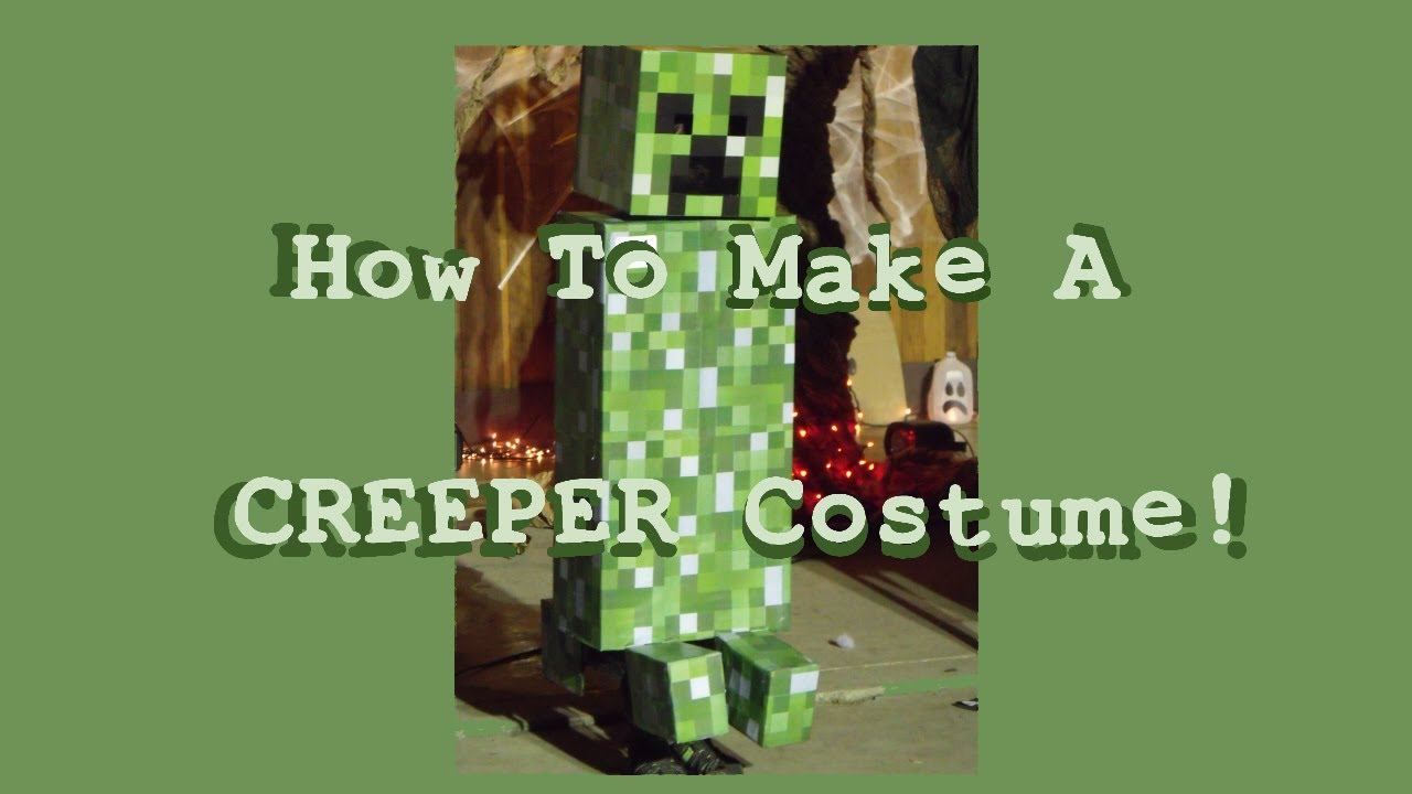 HOW TO MAKE A CREEPER COSTUME - Minecraft Tutorial Halloween - YouTube