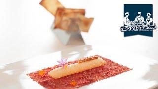 3 Michelin-starred chef Pedro Subijana creates a modern steak tartare and a seafood dish.